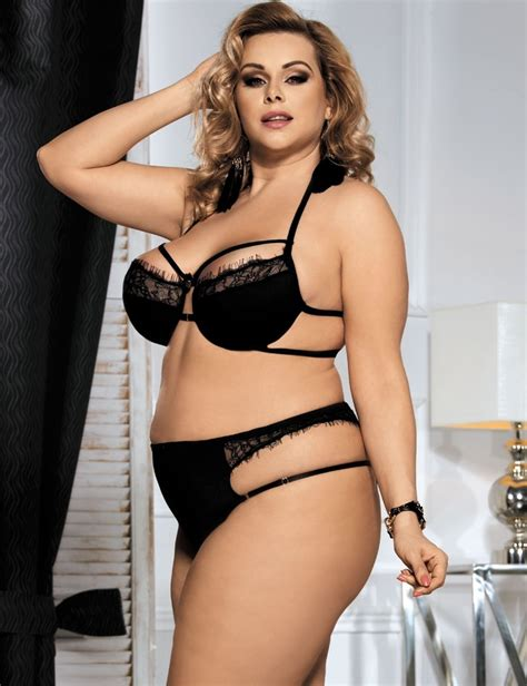 Xl Xl Xl black bra set strappy pant plus siz xl 2xl 3xl