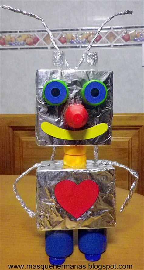 figuras geometricas hechas con material reciclable m 193 s que hermanas hacer robot con material reciclado
