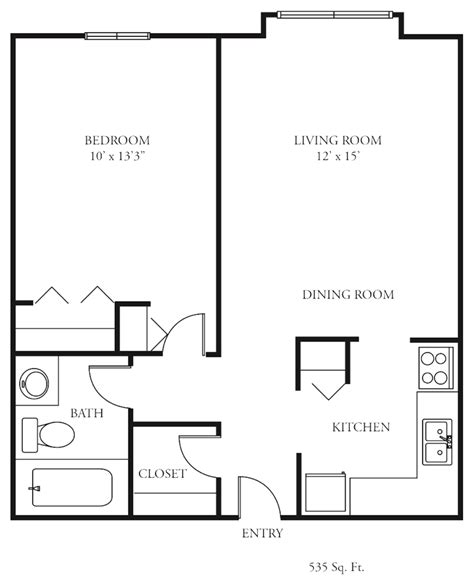 bedroom floorplan simple 1 bedroom floor plans home design ideas