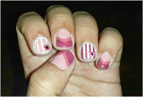 nail art lines tutorial welcome back summers chevron and lines nail art tutorial