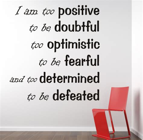 Inspirational Quotes Wall Stickers i am too positive inspirational wall decal quotes