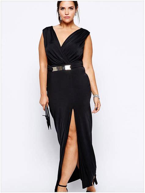 On Sale Caramel Longdress Bigsize 2015 Sale Big Size Dress Black Split