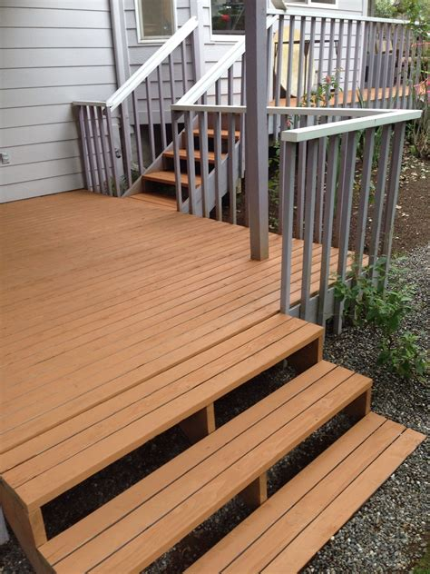 rob stained  deck  olympic max stain  cedar