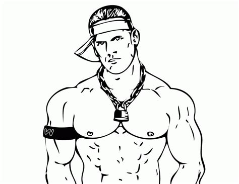 Coloring Page Wwe Kids John Cena Az Coloring Pages Cena Coloring Pages