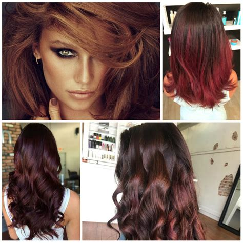 color for 2017 reddish brown best hair color trends 2017 top hair