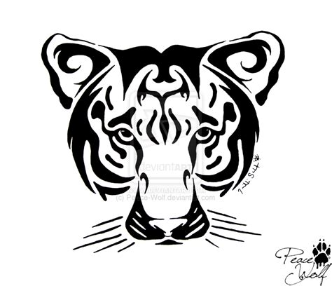 tiger face tribal tattoo tribal tiger tattoos