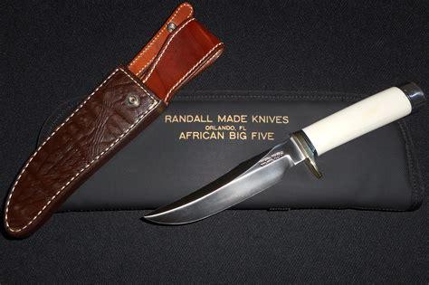 big 5 knife mint condition randall custom big five set 5