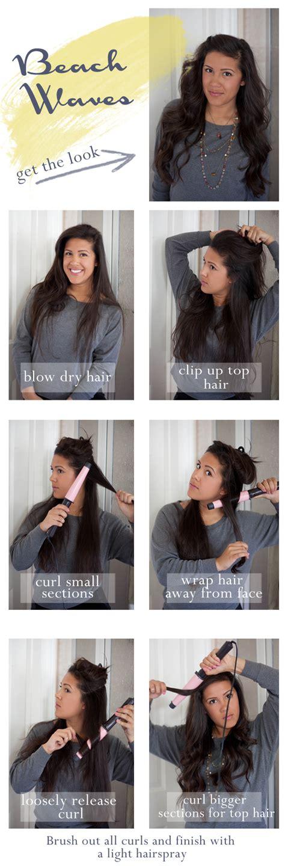 tutorial waves beach wave hair tutorial
