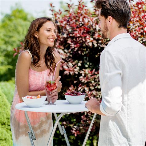 Folding Bar Table Bistro Table Folding Hinge Bar Pub Wedding Occasion Garden Cafe Ebay