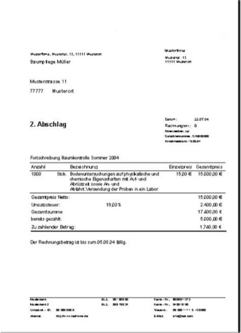 rechnungsprofi registratur auftr 228 und zahlungsbedingungen mit kumulativen anzahlen bzw