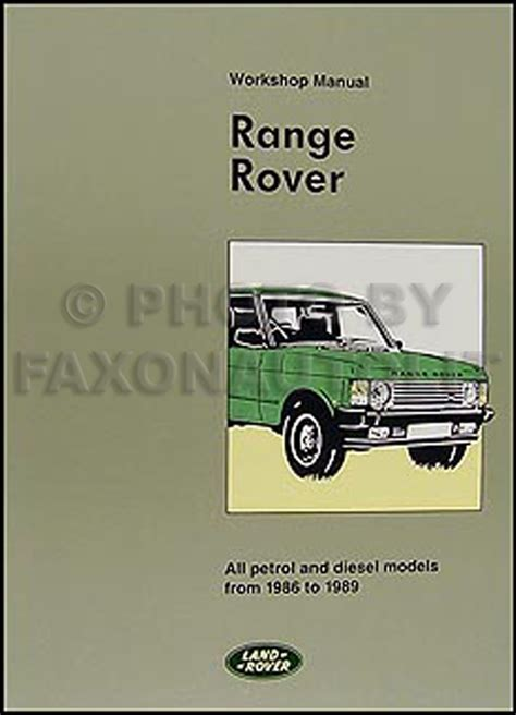 the buffalo range classic reprint books 1986 1991 range rover parts book reprint