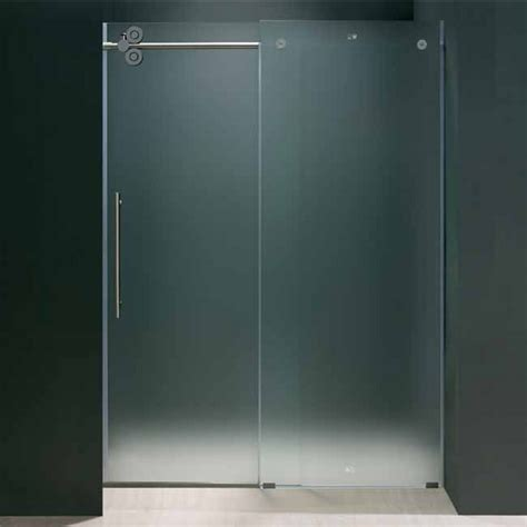 48 Glass Shower Door Vigo 48 Inch Frameless Shower Door 3 8 Frosted Glass Chrome Hardware Quot Ebay