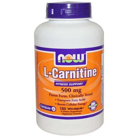 Suplemen L Carnitine Now Foods L Carnitine 500 Mg 180 Vcaps Iherb