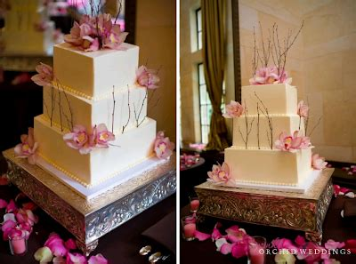Wedding Cake A Year Later by Pink Orchid Weddings Our Orchid Wedding Cake One Year Later