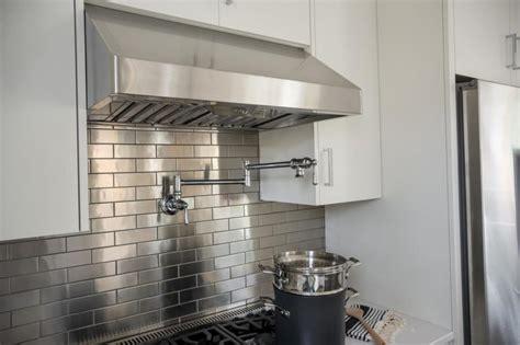 Metal Look Backsplash by Kitchen Backsplashes White Subway Tile Backsplash With