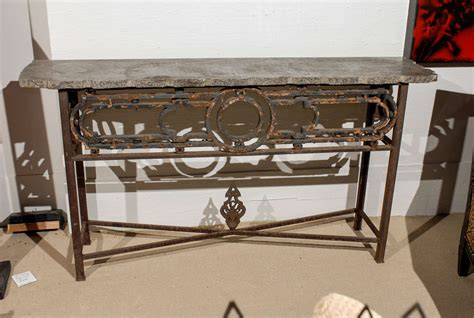 iron sofa table console iron console table at 1stdibs
