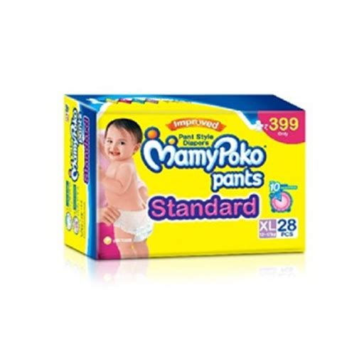 Mamypoko Standar M32 mamy poko standard pant style large diapers 28 count