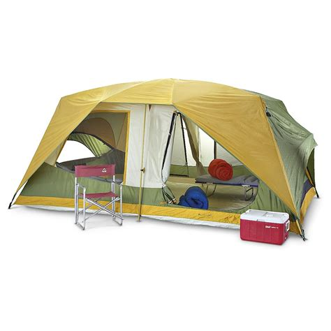 room tents columbia timber butte 2 room family dome tent 161835 cabin tents at sportsman s guide