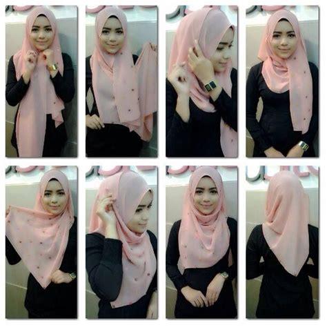 tutorial shawl jilbab pinterest hijabs hijab