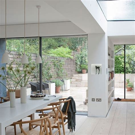 Dining Room House Extension White Open Plan Kitchen Extension Modern Extensions