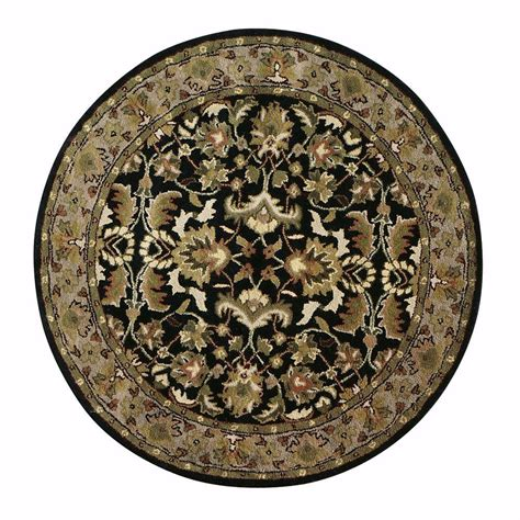 Rounds Rugs Home Decorators Collection Constantine Midnight Blue Beige 5 Ft 9 In Area Rug 3151943380