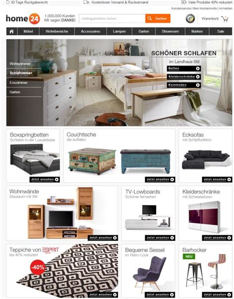 furniture companies redesign for online furniture company home24