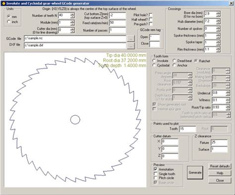 gear template generator version delphusa gear wheel designer