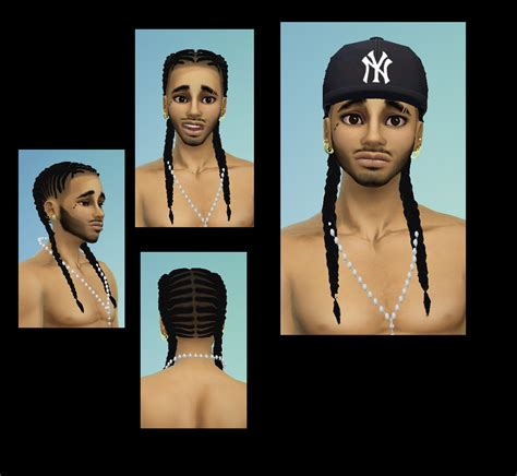 sims 4 female braids braided hair for male converted female to male bebe
