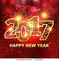 creative happy new year 2017 design 2017 new year greeting card stock vector 444573988