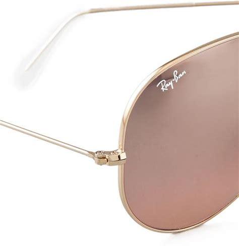 ban oversized original aviator sunglasses gold smoke mirror in gold gold smoke