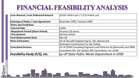 feasibility study template for construction project choice