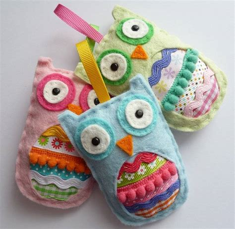 Handmade Owl Decorations - felt owl hanging decoration by paper and string