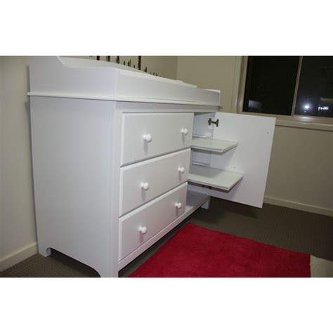 White Baby Change Table Chest Of Drawers Cabinet Buy Baby Changing Tables With Drawers