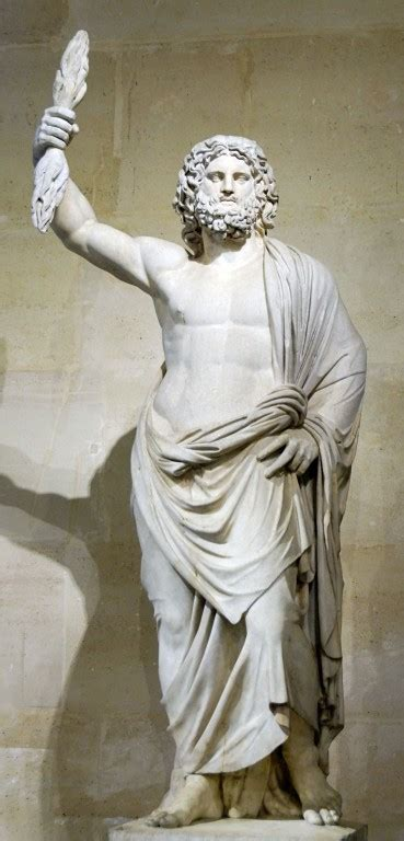 greek gods statues zeus jupiter greek god king of the gods and men