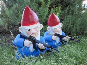 garden gnomes with guns garden gnome with gun