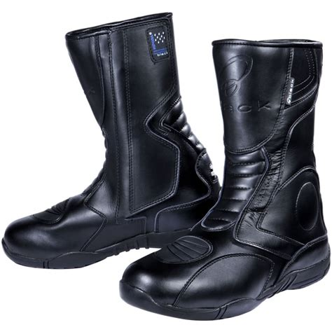 motorcycle touring boots black stealth evo waterproof touring motorcycle motorbike