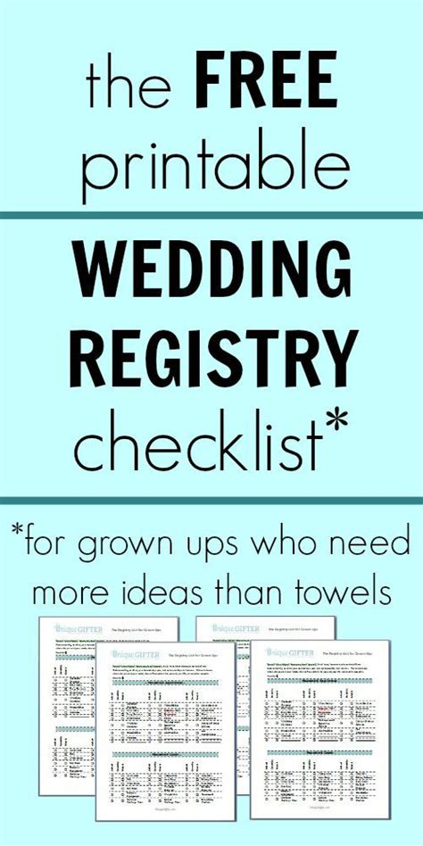 printable checklist for wedding registry free printable wedding registry checklist wedding love