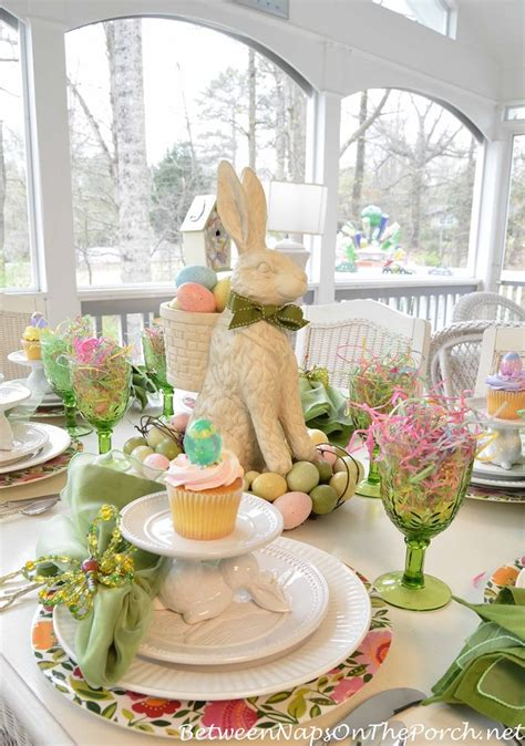 spring tablescape a spring table setting with the easter bunny