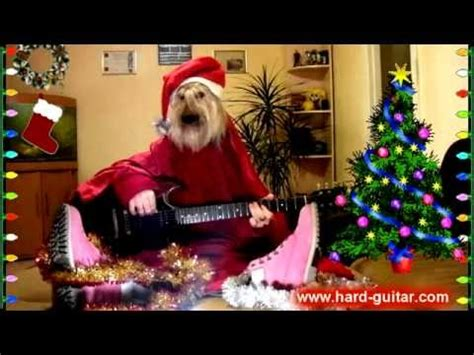 year funny     merry christmas dog playing guitar funny greeting card youtube