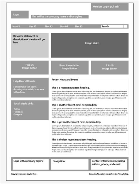 web layout wireframe how to wireframe using 960 gs illustrator