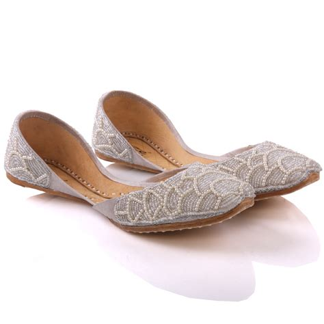 indian flats shoes unze jodie flat leather indian khussa shoes uk size