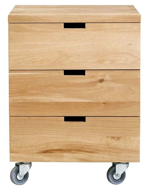 caisson billy oak bureau d ethnicraft 3 tiroirs