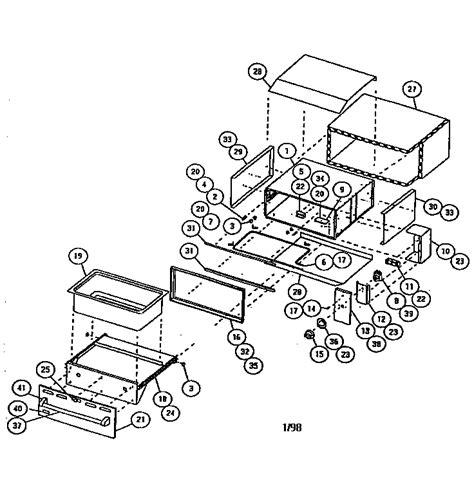 viking range parts diagram viking range corp warming drawer parts model vewd100