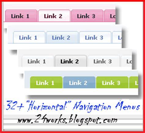 top menu bar html top navigation menu html