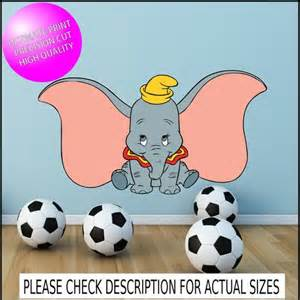 dumbo wall stickers dumbo full colour wall art sticker kids bedroom decal