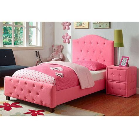 girl twin bed frame upholstered tufted twin bed princess kids pink twin beds