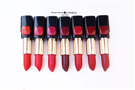 l oreal collection lipsticks review swatches