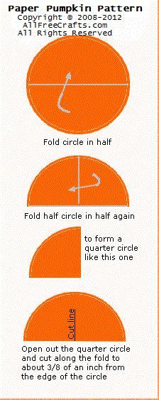 How To Make 3d Pumpkin Out Of Paper - 3d paper circle pumpkins