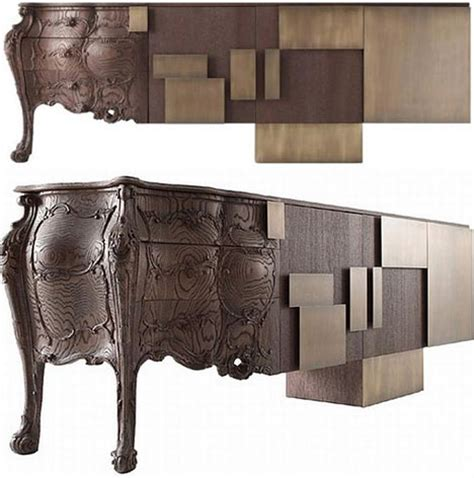 con fused furniture design hybrid historic modern style