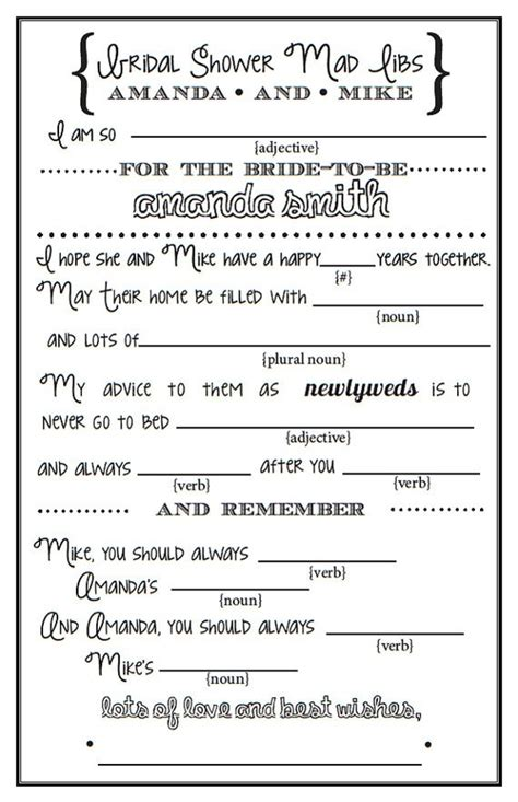 printable wedding shower mad libs 17 best images about party kentucky derby themed bridal